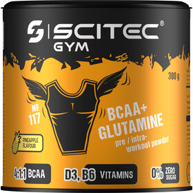 SCITEC BCAA&Glutamine Workout Powder 300g Pineapple